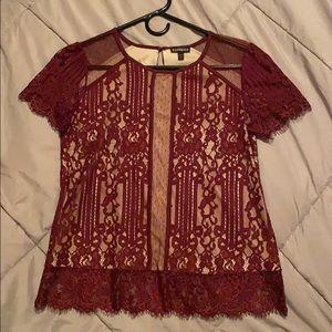 Very pretty blouse. Burgundy color